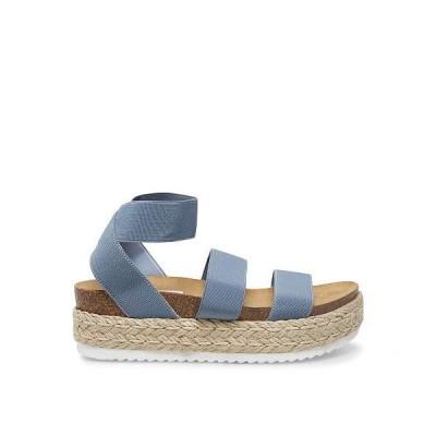 Steve Madden スティーブマデン レディース 女性用 シューズ 靴 サンダル Kimmie Espadrille Sandal - Dusty Blue