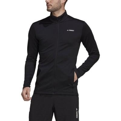 アディダス Adidas メンズ フリース トップス tech full-zip fleece Black