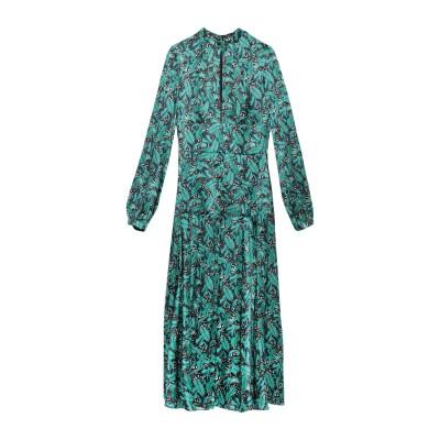 RAQUEL DINIZ ロングワンピース&ドレス エメラルドグリーン 40 シルク 100% ロングワンピース&ドレス