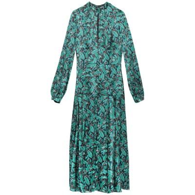 RAQUEL DINIZ ロングワンピース&ドレス エメラルドグリーン 38 シルク 100% ロングワンピース&ドレス