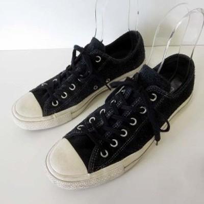 【中古】コンバース オールスター ユナイテッドアローズ 別注 スニーカー スエード オールレザー 26.5cm 黒 US 8 靴