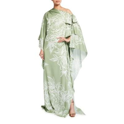 バッドグレイミッシカ レディース ワンピース トップス Off-Shoulder Floral-Print Caftan Gown