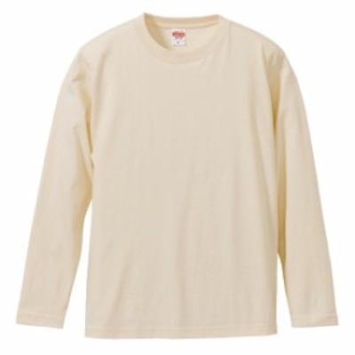 Tシャツ 長袖 メンズ ハイクオリティー 5.6oz L サイズ ナチュラル 無地 ユナイテッドアスレ CAB