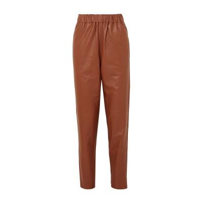 ティビ TIBI パンツ ブラウン XS 羊革(ラムスキン) パンツ