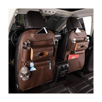 Hhhong Car Seat Back Pouch Storage Bag Hanger Multi-Pocket PU Leather Bag Storage Box Interior Automotive Supplies (Color Name : Brown)