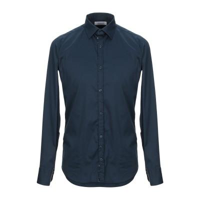 アリーニ AGLINI シャツ ダークブルー 40 コットン 67% / ナイロン 29% / ポリウレタン 4% シャツ
