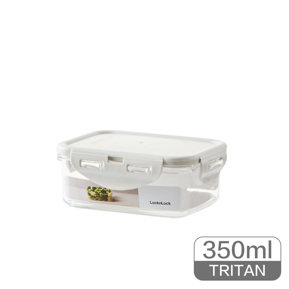 LocknLock樂扣樂扣純淨保鮮盒350ML/長方/淺灰