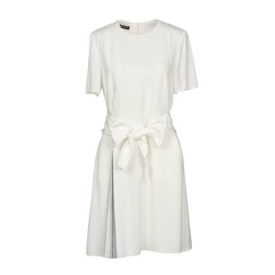 エンポリオ アルマーニ EMPORIO ARMANI ミニワンピース&ドレス ホワイト 46 100% レーヨン ポリエステル ミニワンピース&ドレス