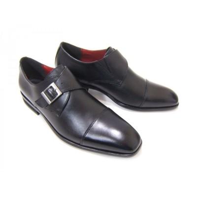 HIROKO KOSHINO/ヒロコ コシノ ビジネス HK131IZ 紳士靴 ブラック モンクストラップ ストレートチップ ロングノーズ 3E ワイズ ビジネス 送料無料