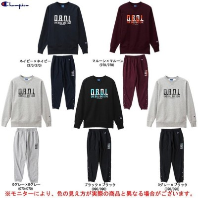 Champion(チャンピオン)クルーネックスウェットシャツ パンツ 上下セット(C3QB011/C3QB211)スポーツ バスケットボール トレーニング カジュアル メンズ
