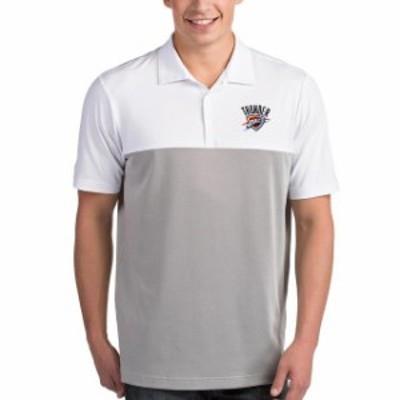 Antigua アンティグア スポーツ用品  Antigua Oklahoma City Thunder White/Gray Venture Polo