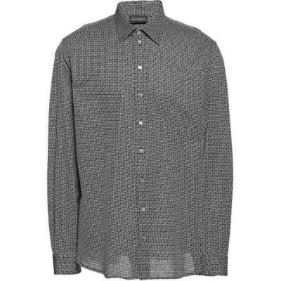 アルマーニ EMPORIO ARMANI メンズ シャツ トップス Patterned Shirt Black