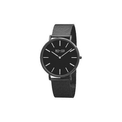 ソーソー腕時計SO CO メンズ 5102.3 カジュアル Madison カレンダー ブラック PVD