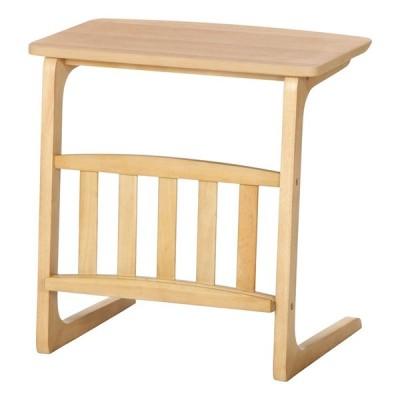 サイドテーブル マガジンラック付 ナイトテーブル ソファーサイドテーブル 木製 ルレーヴェ 幅55cm コンパクト