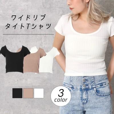 ANAP ワイドリブタイトTシャツ / ANAP / 673-2867 ブラウン  レディース
