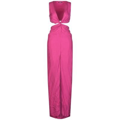 バルマン BALMAIN ロングワンピース&ドレス フューシャ 34 キュプラ 100% ロングワンピース&ドレス