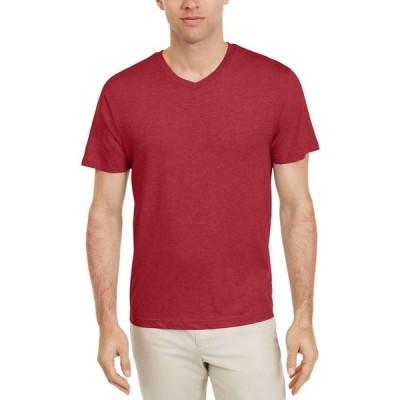 アルファニ Alfani メンズ Tシャツ Vネック トップス Fashion V-Neck Undershirt Red
