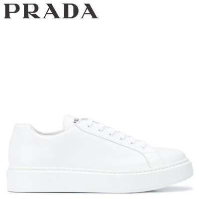 PRADA プラダ スニーカー メンズ NEW sugaronlineshopER FONDO CASSETTA ホワイト 白 4E3489