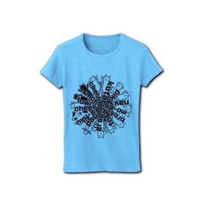 クター[F] リブクルーネックTシャツ (ライトブルー)