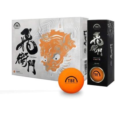 ゴルフボール TOBIEMON 蛍光マットカラー R&A公認球 オレンジ 1ダース(12球) 抜群の視認性 飛衛門