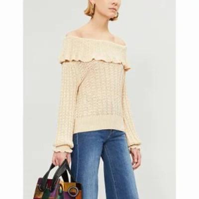 フリーピープル ニット・セーター crazy in love linen-blend jumper Neutral