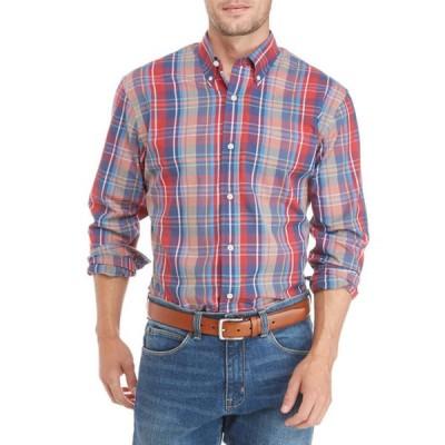 サドルブレッド メンズ シャツ トップス Long Sleeve Plaid Button Front Shirt