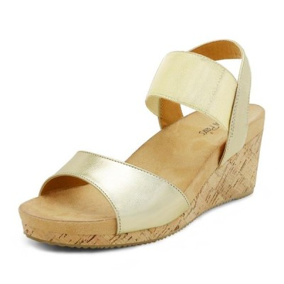 レディース 靴 サンダル Dream Pairs Women's NINI-7 Gold Platform Wedge Sandals Size 5 B(M) US