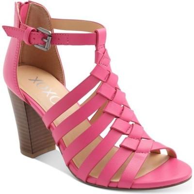 キスキス XOXO レディース サンダル・ミュール シューズ・靴 Baxter Strappy Block-Heel Sandals Magenta