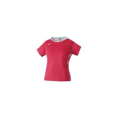 ミズノ  ミズノ ゲームシャツ(ラケットスポーツ)[レディース] ピンク×ホワイト(72ma120464)  スポーツ用品 取り寄せ