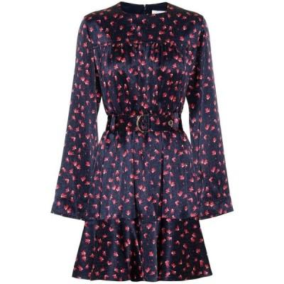 クロエ Chloe レディース ワンピース ワンピース・ドレス Printed silk minidress Blue/Orange