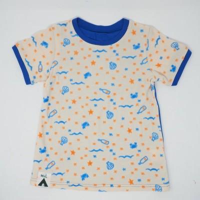 MoL モル 星降る砂浜 Tシャツ ホワイト(メール便対応)半袖Tシャツ 120cm