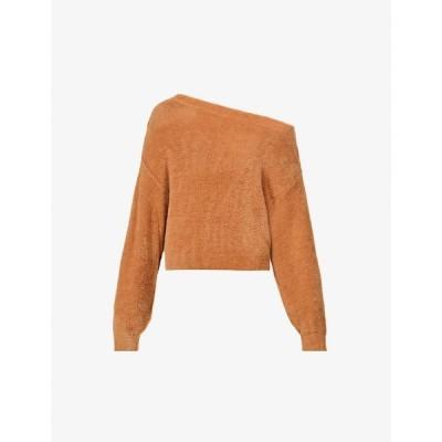 フリーピープル FREE PEOPLE レディース オフショルダー トップス Star Sign off-the-shoulder knitted jumper NEUTRAL