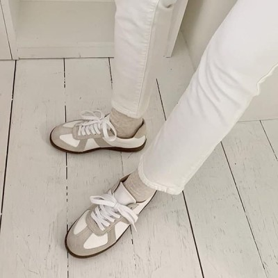 GIVEU レディース スニーカー Daily leather sneakers