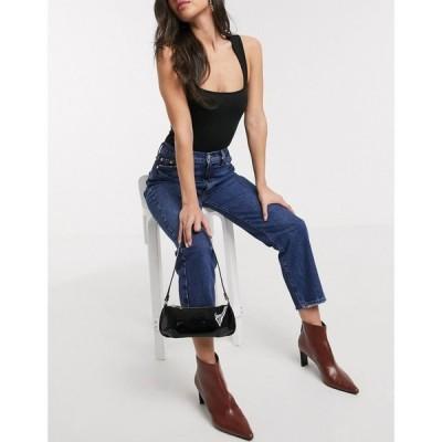 リバーアイランド River Island レディース ジーンズ・デニム ボトムス・パンツ crop denim jeans in dark wash ブルー