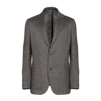 ROYAL ROW テーラードジャケット ココア 50 麻 100% テーラードジャケット