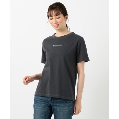 【エニィファム】 オーガビッツミニロゴ Tシャツ レディース グレー系 3 anyFAM