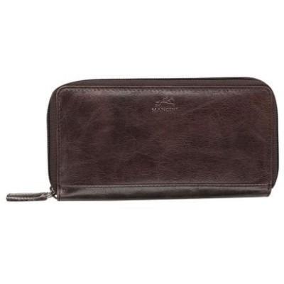 マンシニレザーグッズ レディース 財布 アクセサリー Bridge Ladies' RFID Secure Medium Clutch Wallet
