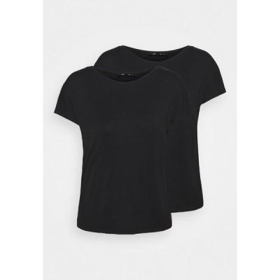ジン Tシャツ レディース トップス 2 PACK - Basic T-shirt - black