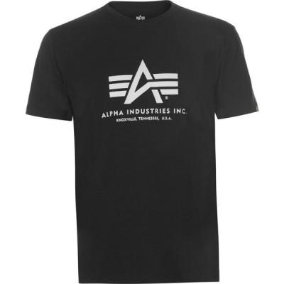 アルファ インダストリーズ Alpha Industries メンズ Tシャツ トップス Basic Logo T-shirt Black