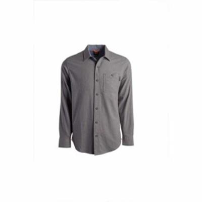 ティンバーランド Timberland PRO メンズ シャツ フランネルシャツ トップス Extended Woodfort Mid-Weight Flannel Work Shirt Charcoal
