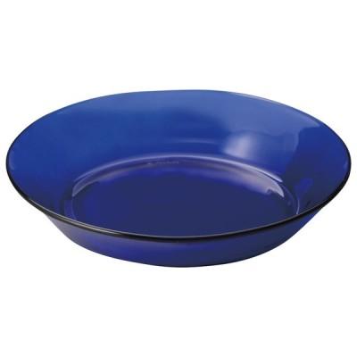 デュラレックス 19.5cmスープ皿 サファイア ガラス食器 フランス製