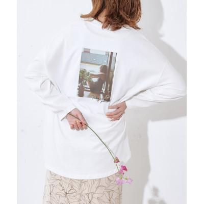 オソロバックVTGフォトロングTシャツ