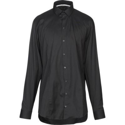 パトリツィア ペペ PATRIZIA PEPE メンズ シャツ トップス Solid Color Shirt Black