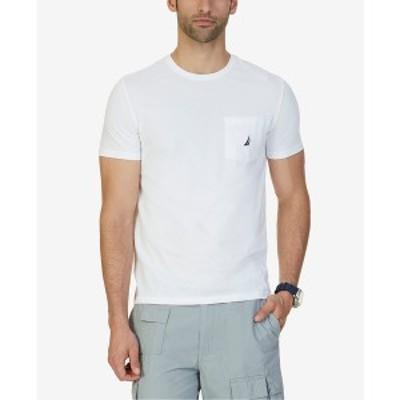 ナウティカ メンズ Tシャツ トップス Men's Big & Tall Anchor Pocket T-Shirt Bright White
