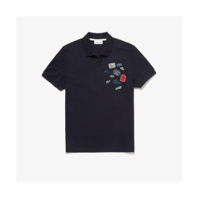 (LACOSTE Mens/ラコステ メンズ)ミックスバッヂポロシャツ/メンズ ダークネイビー
