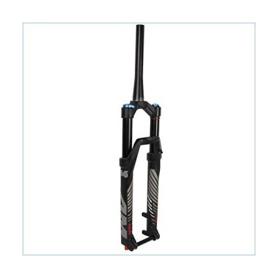 """26/27.5"""" Mountain Bike Suspension Fork, Outdoor Aluminum Alloy Disc Brake Front Bridge Cone Tube 1-1/8"""" Travel 100mm (Color : A, Size : 26in"""