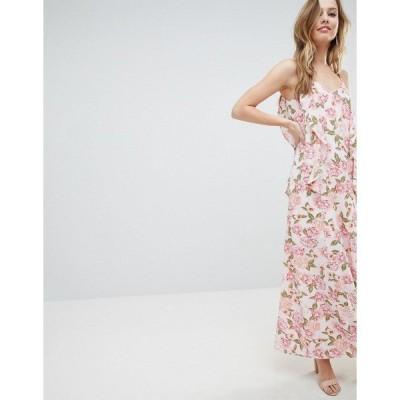 オーマイラブ レディース ワンピース トップス Oh My Love Cami Maxi Dress With Frill Detail Multi