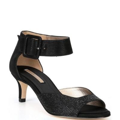 ペレモーダ レディース サンダル シューズ Berlin6 Metallic Suede Crystal Embellished Dress Sandals Black