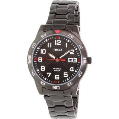 腕時計 タイメックス Timex メンズ Fieldストーン TW2P61600 ブラック ステンレス-スチール アナログ クォーツ 腕時計