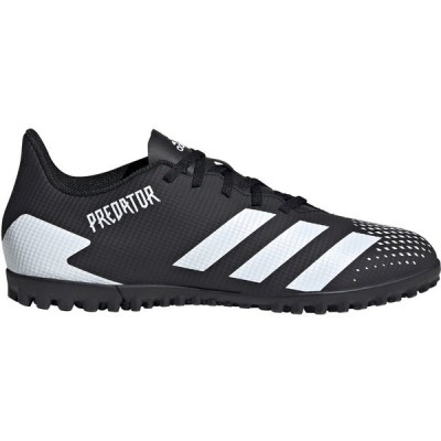 アディダス シューズ メンズ サッカー adidas Men's Predator 20.4 Turf Soccer Cleats Black/White